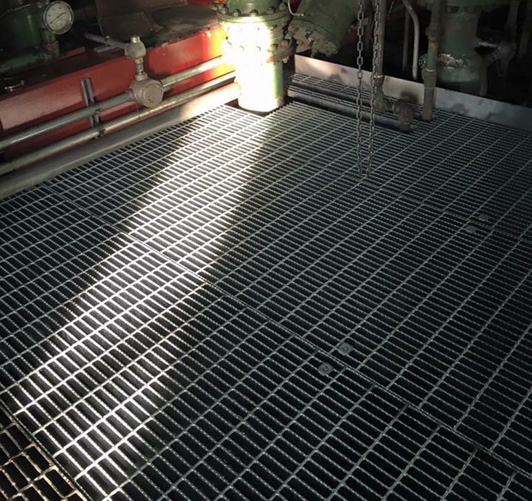 Completed grating